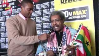"Don King says ""I loaned Mayweather Jr. $500,000. Give me back my money Floyd!"""