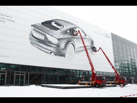 innerfields - giant Audi A7 painting
