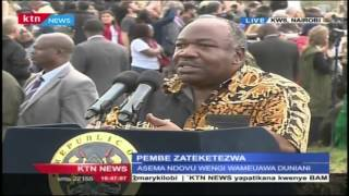Gabon President Ali Bongo reiterates and empathizes on Uhuru statement against poachers in Kenya