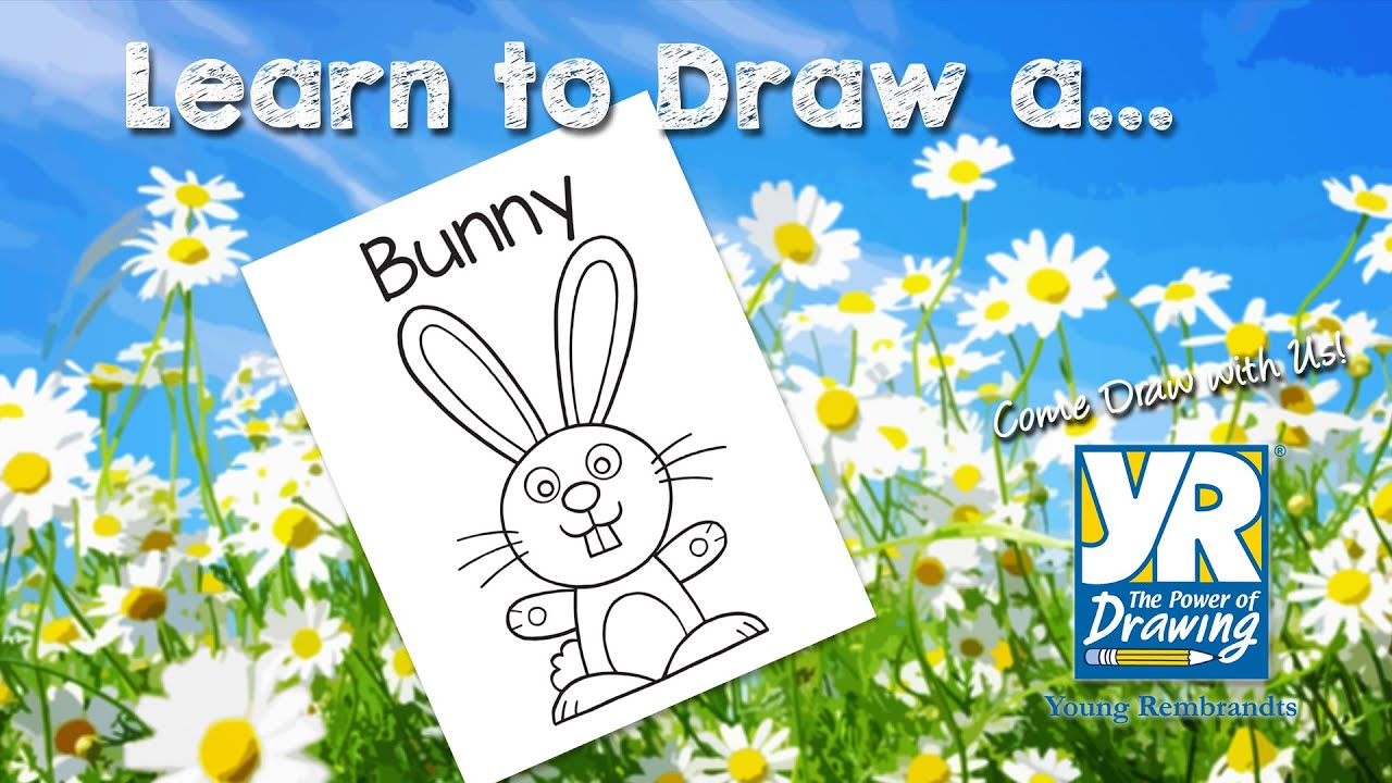 Teaching Kids How To Draw: How To Draw A Bunny