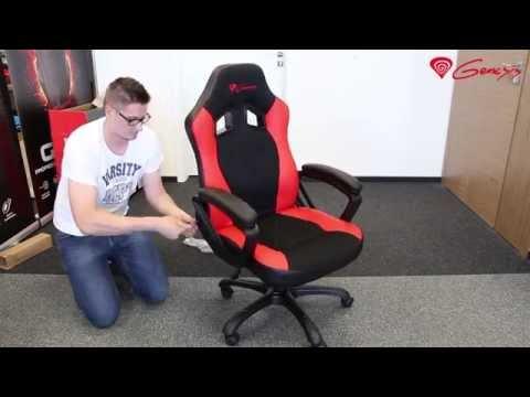 Natec Genesis SX33 gamer stolička, čierna-červená
