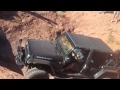 The Jeep was balancing with a wheel high off the ground. This is the ledge that flipped the TJ unlimited in the 2010 Crawlfest.