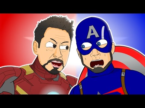♪ CAPTAIN AMERICA: CIVIL WAR THE MUSICAL - Animated Song Parody