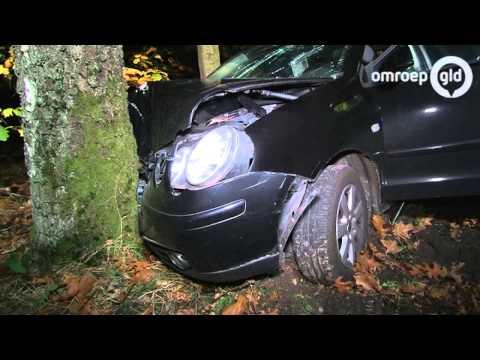 Vijf gewonden ongeval Plaggeweg Vierhouten