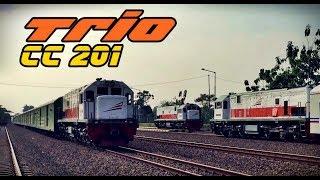 Lokomotif mogok, lokomotif KA Amotis, dan Lokomotif KA Logawa bertemu di Stasiun Patukan