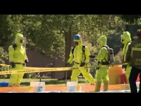 chemical spill - Authorities were called to Ethel Walker School in Simsbury after teacher discovered a chemical spill.
