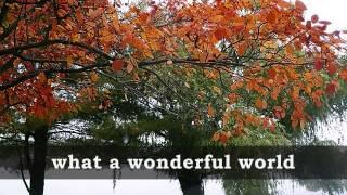 Video WHAT A WONDERFUL WORLD - Louis Armstrong (Lyrics) MP3, 3GP, MP4, WEBM, AVI, FLV Agustus 2018