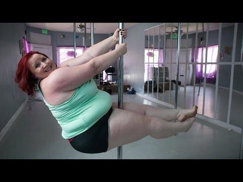 115公斤世界最胖鋼管舞者:沒有我不會的動作!