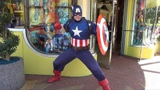 Marvel Captain America Meet and Greet at Universal Orlando Islands of Adventure Plus New Merchandise
