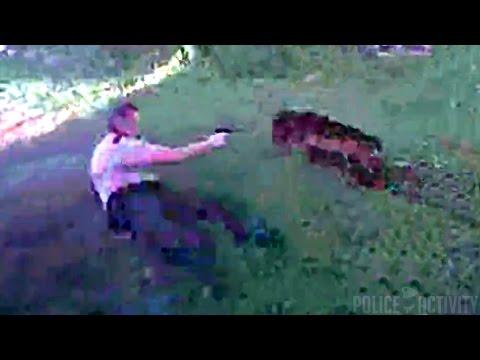 Питбуль напал на полицейских и получил пулю