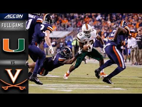 Miami Vs. Virginia Full Game | 2018 ACC Football