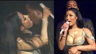 Nicki Minaj Kisses And Licks Meek Mill
