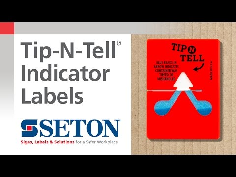 Protect Your Shipments with Tip-N-Tell Indicator Shipping Labels | Seton