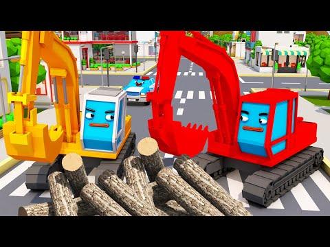 Bagger POL und Freunde - Autos für Kinder - Bagger Kinderfilm deutsch!