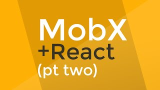 "MobX is AWESOME.  It makes React.js programming fun and it...just...works.  Get the code here:GET THE CODE:https://github.com/learncodeacademy/react-js-tutorials/tree/master/6-mobx-reactTHERE ARE 2 BRANCHES: ""master"" for where we end up and ""start"" for where we start.MobX builds on the concept of observable values.  When React observes a value, it can automatically update the UI whenever the value changes.  This makes programming with MobX and Reactjs extremely simple.All it takes to begin is to install mobx and mobx-react and make sure that you are transforming class properties and decorators in Babel.Now, you simply add @observable to your MobX class and you've successfully built a MobX observable store.To ""observe"" the store, you pass in a MobX store as a prop and you decorate your React component with the @observer decorator.Voila...you're reacting to store changes in React."