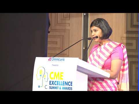 Savitha Kuttan, Founder & CEO, Omnicuris at CME Excellence Summit and Awards