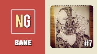 Time Lapse Drawing: Bane / Tom Hardy [Drawing #7]