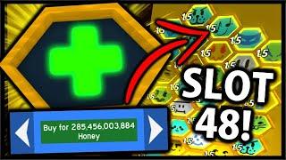 Buying The 285 *BILLION* Hive Slot 48! (Spending 300 Billion Honey) | Roblox Bee Swarm Simulator
