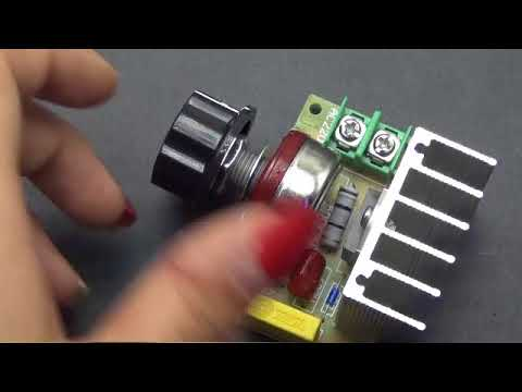 3800W thyristor high power electronic voltage regulator dimming speed adjustable thermostat