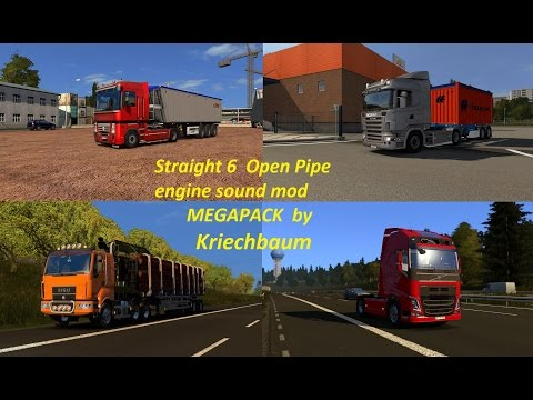 Open Pipe straight 6 engine sounds megapack