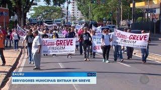 Bauru: servidores municipais entram em greve e pedem reajuste salarial