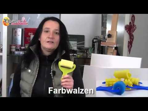2.Gratis-Videokurs – Die Mal- und Farbwalzen – Malen lernen mit Acryl-Farbe…