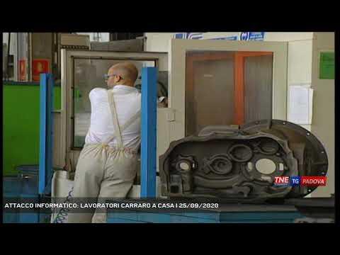 ATTACCO INFORMATICO: LAVORATORI CARRARO A CASA | 25/09/2020