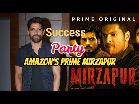 Farhan Akhtar At Success Party Of Amazon's Prime Mirzapur
