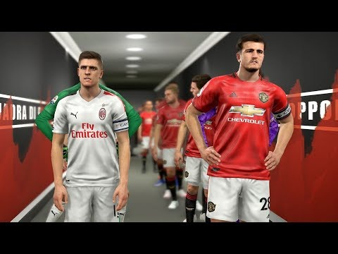 Manchester United vs AC Milan ft Maguire , Lovren , Everton , Savic  | PES 2019