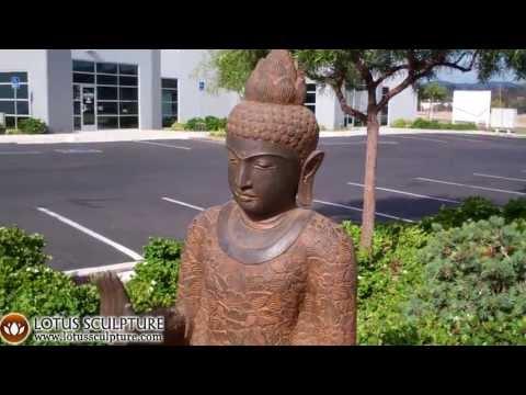 SOLD Stone Standing Abhaya Buddha 62