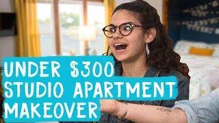 Studio Apartment Makeover for Under $300!   Mr. Kate Decorates