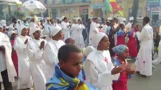 Marches To The Maskel Ceremony - Gondar , Ethiopia 2014