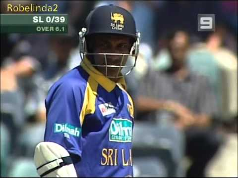 Sanath goes over the field