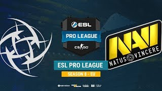 NiP vs Na`Vi - ESL Pro League S8 EU - bo1 - de_mirage [CrystalMay, Anishared]