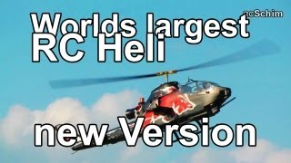Worlds Largest RC Heli (Josef Schmirls New RED BULL Cobra, High Performance Turbine)