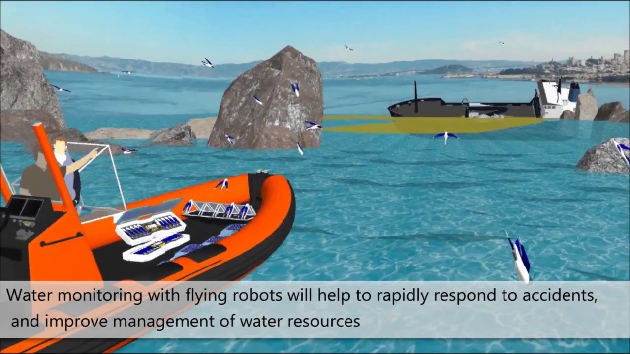 We have developed a hybrid Aquatic Micro Aerial Vehicle (AquaMAV) that dives like a gannet and launches like a flying fish, to collect water samples. It was published in the December 2016 issue of Royal Society Interface Focus.
