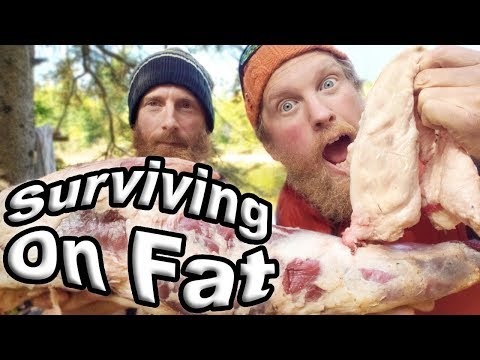 Bear Meat Cooked In Bear Fat, Day 5 Of 7 /  Wilderness Living Challenge  S04E06 Survival Challenge