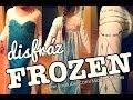 Elsa FROZEN - vestido hecho a mano! Mi proceso - YouTube