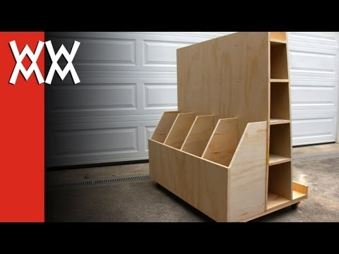 storage - Here's a rolling cart for storing lumber, plywood, and other sheet goods in your workshop. I made this to take up as little space as possible, yet hold a lot...