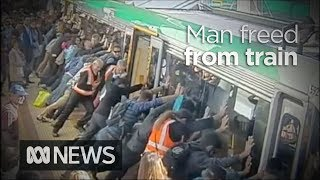 Amazing: People Power Frees A Man Who Was Trapped Between The Platform And A Train