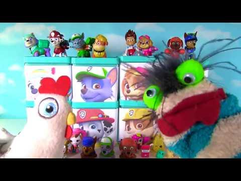 Huge PAW PATROL Surprise Blind Boxes Toy Show - Shopkins Mashems Chocolate Suprises Eggs