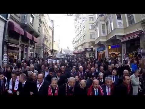 Beyoğlu'nda Görkemli Erzincan Yürüyüşü