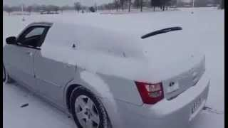Impressive Way To Clear Snow From Your Car
