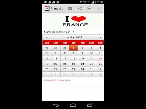 Video of Français Calendrier 2015