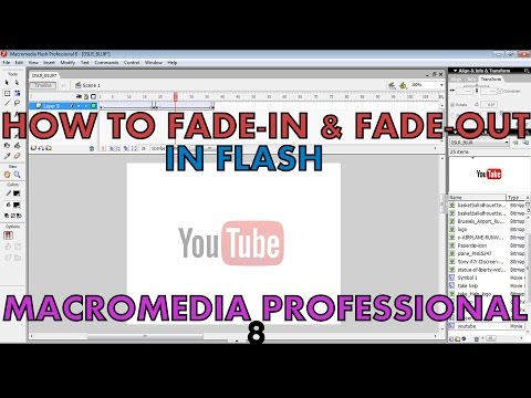 How to fade-in & fade-out in Flash | Macromedia Professional 8