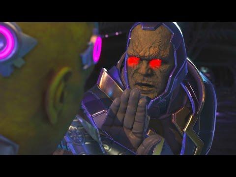 Injustice 2 - Darkseid Vs Brainiac - All Intro Dialogue/All Clash Quotes, Super Moves