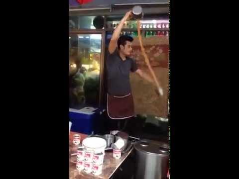 This guy has got liquid physics down to a Tea