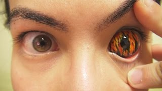 Video How to: Insert And Remove Flames Sclera Contact Lenses (Fxeyes) MP3, 3GP, MP4, WEBM, AVI, FLV Maret 2018
