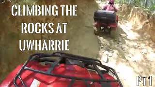 1. Honda Rancher & Recon ATVs: Climbing the Rocks at Uwharrie Part 1