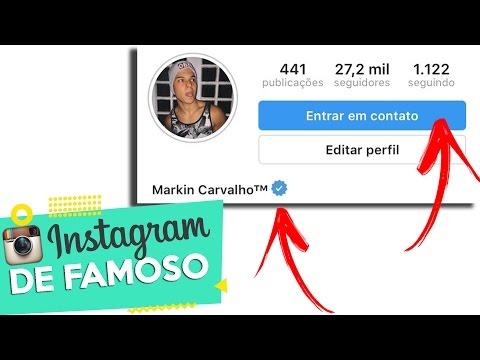 Status criativos - COMO DEIXAR SEU INSTAGRAM IGUAL DOS FAMOSOS  Markin Carvalho